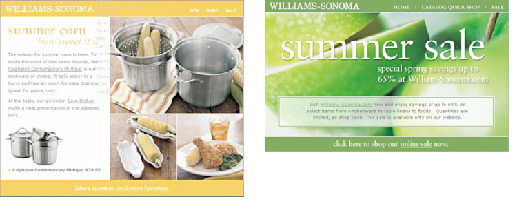 Williams Sonoma - Emails